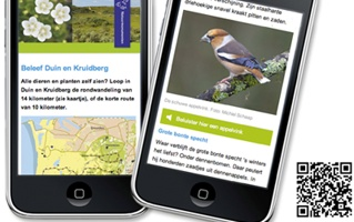 Mobiele natuurinformatie in duingebied